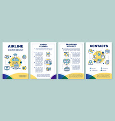 airline services brochure template layout vector image
