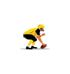 American football sign Player with the ball vector image