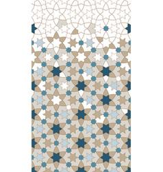 Arab pattern border background design vector