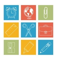 back to school set supplies vector image