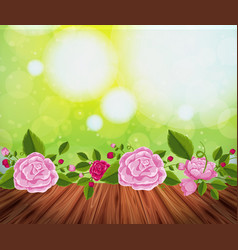 background design with pink roses vector image