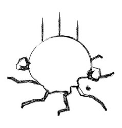 ball breaking floor vector image