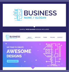 Beautiful business concept brand name measure vector