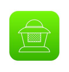 beekeeper icon green vector image