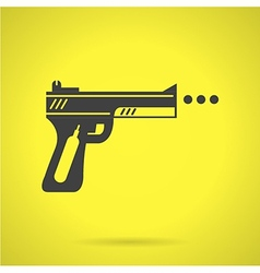 Black sport airgun flat icon vector