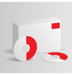 Blank software box with disc vector image