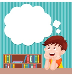 Boy thinking vector image