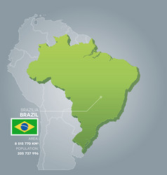 brazil information map vector image