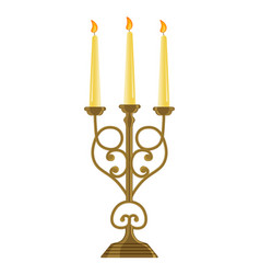 Candle holder isolated on white background vector