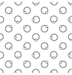 captive ball ring seamless pattern vector image