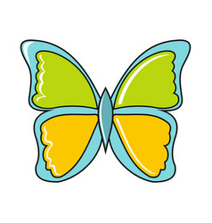 Cartoon butterfly icon on white background vector
