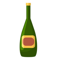 champagne or wine in bottle alcohol drink vector image