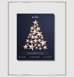 christmas poster template with christmas tree of vector image