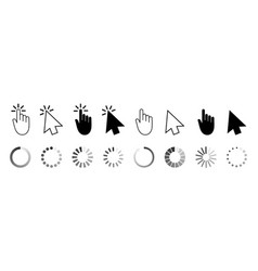 click mouse cursor icons pointer for computer vector image