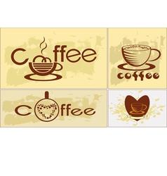 Coffee tee menu vector image