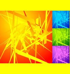 Colorful geometric elements edgy angular random vector