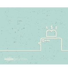 Creative toaster Art template vector