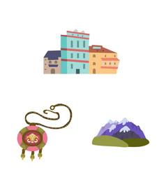 Design caucasus and traditions icon vector