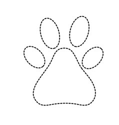 Dotted shape dog animal footprints decoration vector