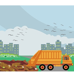 dump on the road to the city vector image