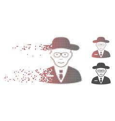 dust pixel halftone scientist icon vector image