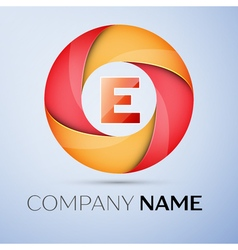 E letter colorful logo in the circle template for vector