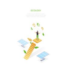 ecology - modern colorful isometric web vector image