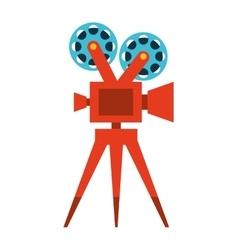 film movie camera icon vector image vector image