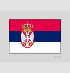 Flag of serbia national ensign aspect ratio 2 to vector