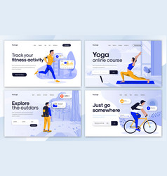 flat modern design landing page template vector image