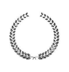 grunge stamp style laurel wreath icon shape vector image