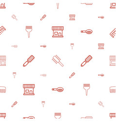 Hairbrush icons pattern seamless white background vector