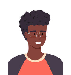 Handsome and intelligent black or ethnic teenage vector