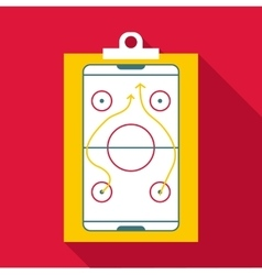 Hockey game plan icon flat style vector