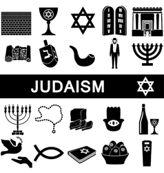 Icons for judaism vector image
