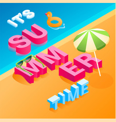 isometric summer concept 02 vector image