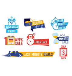 last offers sale counter best time deals discount vector image