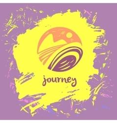 Logo travel company Tourist trip The vector