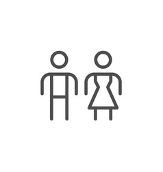male and female line icon vector image