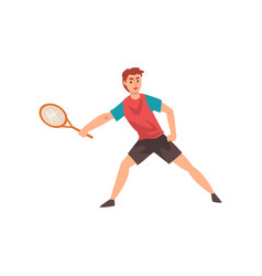 male tennis player professional sportsman vector image