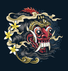 Masks devil bali indonesian balinese culture and vector