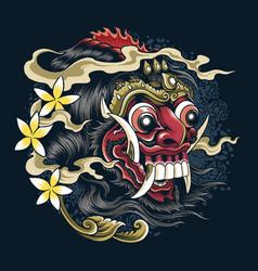 Masks devil bali indonesian balinese culture vector