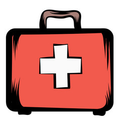 Medicine chest icon cartoon vector