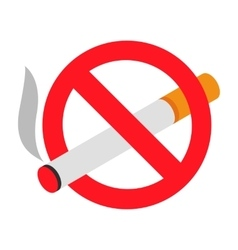 No smoking 3d isometric icon vector image