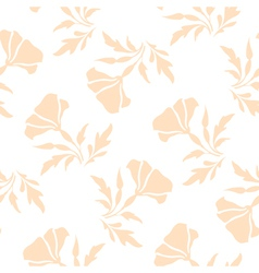 Pale floral pattern vector image