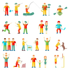 People in different situations friends vector
