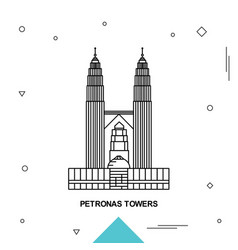 Petronas towers vector