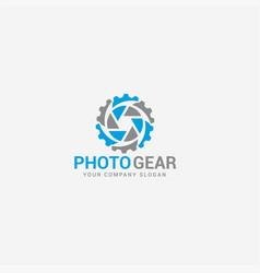 Photo gear logo template vector