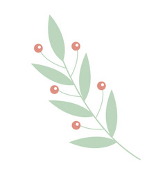 plant flower icon flat cartoon style vector image