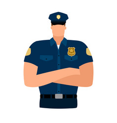 Policeman avatar icon vector